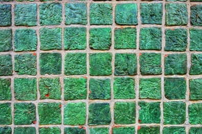 Picture of green tiles.